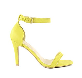 Yellow Heeled Sandals ~ Heeled Sandals