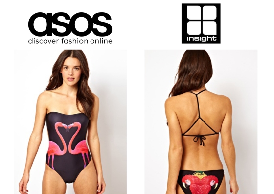 asos and insight animal swimwear cashmere and ivory